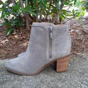 💎NWOB Lucky Brand Gray Perforated Booties